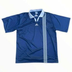 Vintage 90s Adidas Soccer Jersey Large